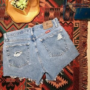 Vintage Shorts - Vintage wrangler high waist cut off denim shorts